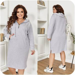 Платье короткое с длинным рукавом А55023