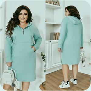 Платье короткое с длинным рукавом А55025