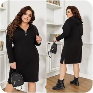 Платье короткое с длинным рукавом А55026