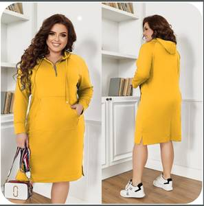 Платье короткое с длинным рукавом А55027