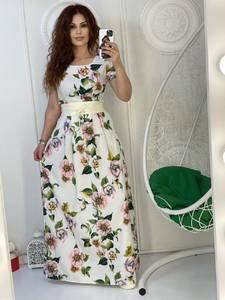 Платье длинное с принтом А38339