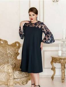 Платье короткое нарядное Ю6513