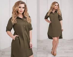 Платье короткое однотонное А24174