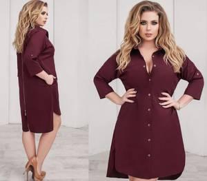 Платье короткое однотонное А24176