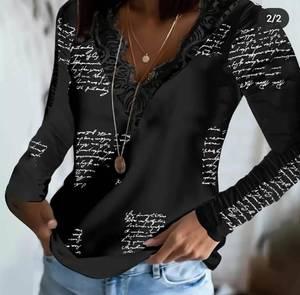 Блуза с длинным рукавом А32104