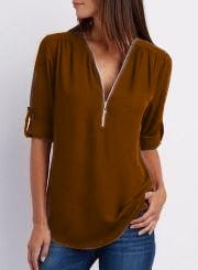 Блуза с длинным рукавом А32108