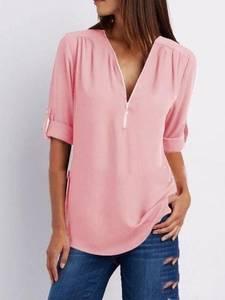 Блуза с длинным рукавом А32109