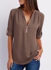 Блуза с длинным рукавом А32111