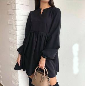 Платье короткое однотонное А23324