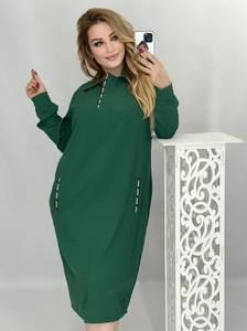Платье короткое с длинным рукавом А48234