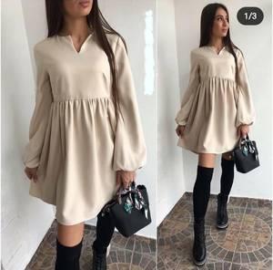 Платье короткое однотонное А23326