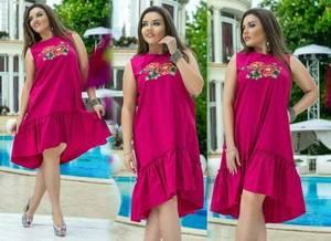Платье короткое с принтом летнее Т8343