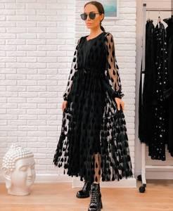 Платье длинное нарядное Ю5107
