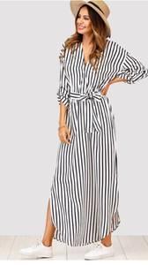 Платье длинное в полоску Я0659