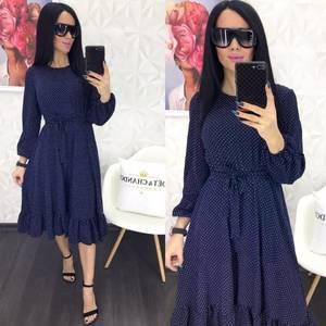 Платье короткое с длинным рукавом Я0882