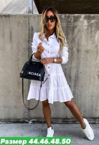 Платье короткое белое Я7992