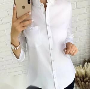 Рубашка однотонная А33454