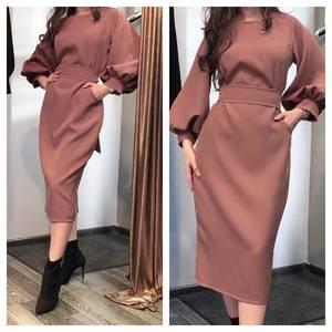 Платье короткое однотонное А07230