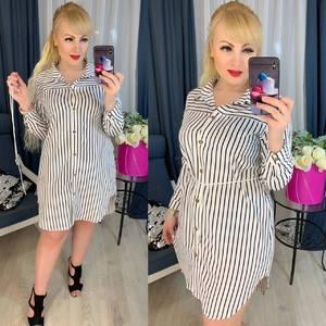 Платье короткое с длинным рукавом Ю7631