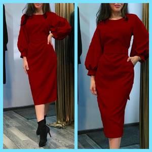 Платье короткое однотонное А07232