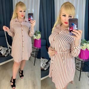 Платье короткое с длинным рукавом Ю7632