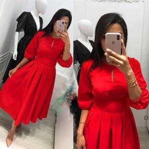Платье короткое однотонное А07239