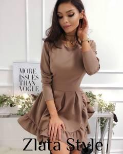 Платье короткое с длинным рукавом Ш2690