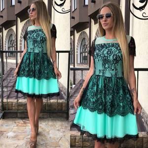 Платье короткое коктейльное элегантное Т7862