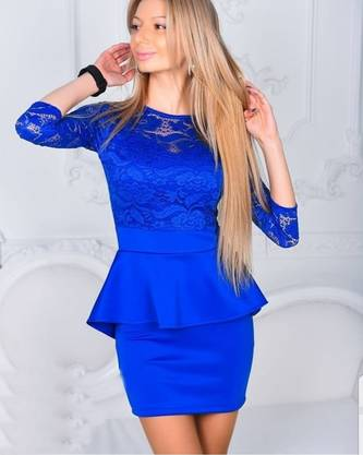 Платье короткое нарядное Ю0324