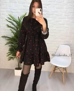 Платье короткое с длинным рукавом Ю3592