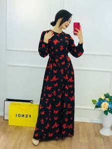 Платье длинное с принтом Ю5774