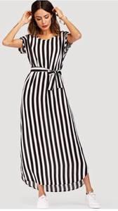 Платье длинное в полоску Я0660