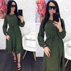 Платье короткое с длинным рукавом Я0883