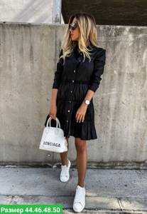 Платье короткое черное Я7991