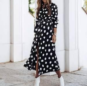 Платье длинное с длинными рукавами А30658