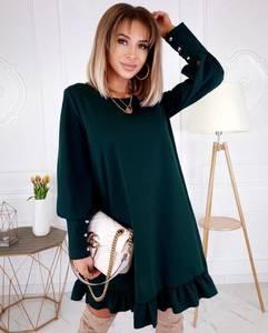 Платье короткое с длинным рукавом А33586