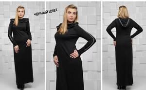 Платье длинное однотонное Ш5913
