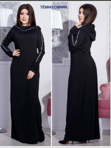 Платье длинное однотонное Ш5914