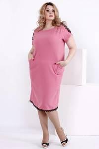 Платье короткое нарядное с кружевом Т7826
