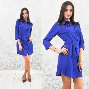 Платье короткое с рукавом 3/4 Ш6445
