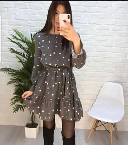 Платье короткое с длинным рукавом Ю3593