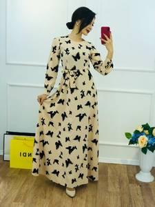 Платье длинное с принтом Ю5775