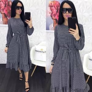 Платье короткое с длинным рукавом Я0884