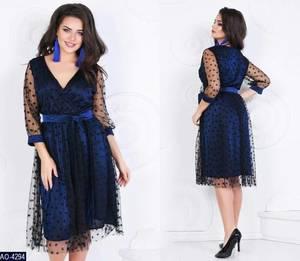 Платье короткое нарядное А09601