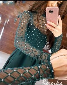 Платье длинное с разрезом на ноге А09648