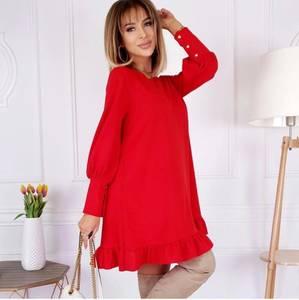 Платье короткое с длинным рукавом А33587