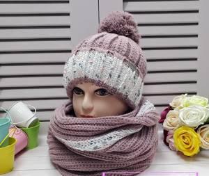 Шапка и шарф Хомут А24671