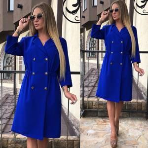 Платье короткое синее однотонное Т7882