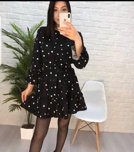 Платье короткое с длинным рукавом Ю3594