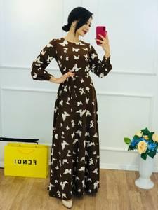 Платье длинное с принтом Ю5776